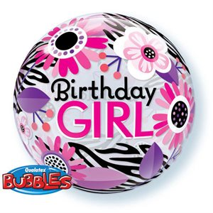 Mylar Bulle Birthday Girl