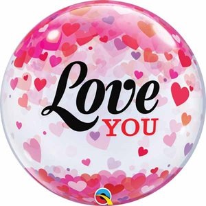 MYLAR BULLE 22 PO. LOVE YOU