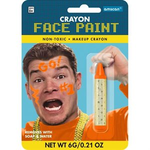 Crayon face stick sports orange